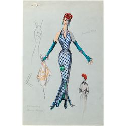 Patti Page costume sketches by Donn Fischer for The Big Record.