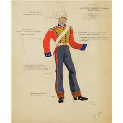 The Buccaneer (2) military costume sketches by Ralph Jester.