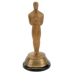 """Mini-""""Oscar"""" statuette for Columbia Pictures' 15th anniversary of It Happened One Night."""