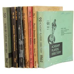 Academy of Motion Picture Arts and Sciences (7) important early illustrated Players Directories.