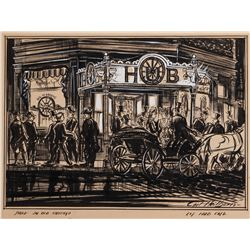 In Old Chicago production design sketch by Carl Heiborn for art directors Sternad and Darling.