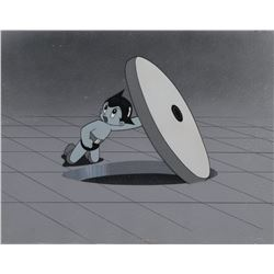 """Astro Boy"" production cel on matching production background from the original TV series, Astro Boy."
