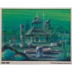 """Star Trek: The Animated Series production background from episode 13, """"The Ambergris Element""""."""