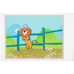 """Touché Turtle"" and ""Lippy the Lion"" (2) production cels on production backgrounds."