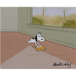 """Snoopy"" production cel from Snoopy Come Home signed by Charles Schulz."