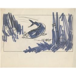 The Incredible Mr. Limpet (7) original storyboards.