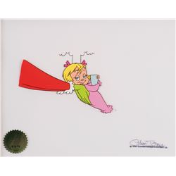 """""""Cindy Lou Who"""" & """"Grinch"""" production cel with matching drawing from How the Grinch Stole Christmas."""