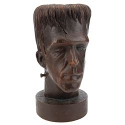 """Fred Gwynne """"Herman Munster"""" prop plaster head from Episode: """"Prehistoric Munster"""" from The Munsters"""