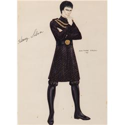 """Henry Silva """"Kane"""" costume sketch by Jean-Pierre Dorleac for Buck Rogers in the 25th Century."""