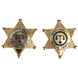 The Dukes ofHazzard (2)Sheriff prop badges.