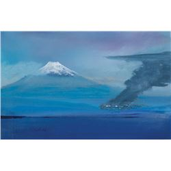 Xena: Warrior Princess (2) paintings of Mt. Fuji & Cliffside backgrounds by HarrisonEllenshaw.