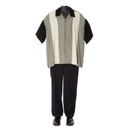 "James Gandolfini's screen-worn ""Tony Soprano"" costume from the final scene of The Sopranos."