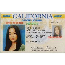 "Yun-Jin Kim ""Sun"" California driver's license & medical chart folder from Lost."