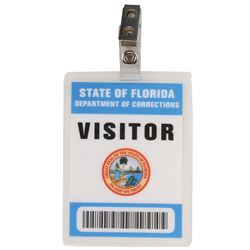 Florida Department of Corrections visitor pass and Tallahassee tote bag from Lost.