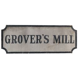"""Grover's Mill"" sign from The Night that Panicked America (War of the Worlds.)"