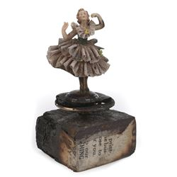 "Holliday Granger ""Bonnie Parker"" burned music box ballerina from Bonnie and Clyde."