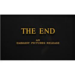 """""""The End"""" title from Embassy Pictures."""