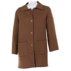 Lady Oona Chaplin Cashmere wool coat by Hermes.