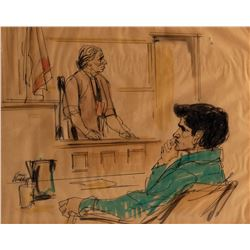 SirhanSirhantrial courtroom sketch of the assassin and his mother by GeneWidhoff.