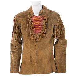 """James Stewart """"Linus Rawlings"""" leather trapper tunic fromHow the West Was Won."""