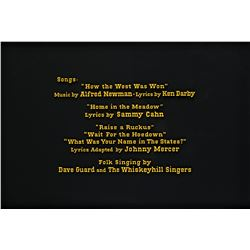 How the West Was Won film song titles credits art.