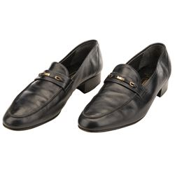 """Sean Connery """"James Bond 007"""" leather dress shoes from Never Say Never Again."""