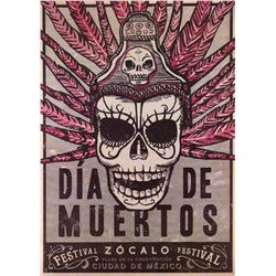 """""""Dia de Muertos"""" poster used in the spectacular Mexico City opening sequence of Spectre."""