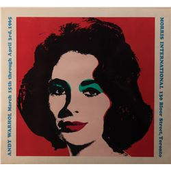 Andy Warhol 1965 Candadian exhibition poster featuring Elizabeth Taylor.