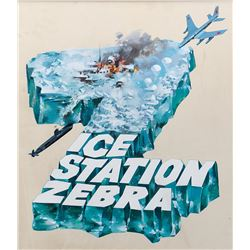 Ice Station Zebra concept art and McCall paste-up photo.
