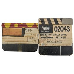 The Mad Bomber and Sometimes A Great Notion Pair of Rexford Metz clapperboards.