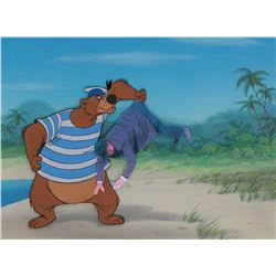 """""""Bear"""" production cel on a production background from Bedknobs and Broomsticks."""
