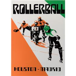 """Rollerball """"Houston – Madrid"""" screen used game poster."""