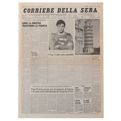 Superman: The Movie and Superman III (4) prop newspapers.