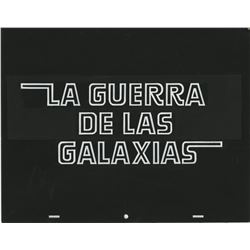 Star Wars: Episode IV - A New Hope original Spanish opening title art and star credit title.