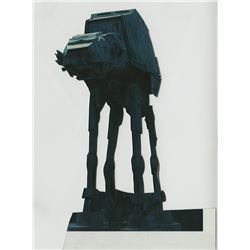"Star Wars: The Empire Strikes Back Photo cut-out of an ""AT-AT"" used in the Hoth scenes."