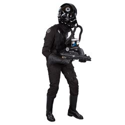 TIE Fighter Pilot jumpsuit and display from Star Wars: Episode IV – A New Hope.