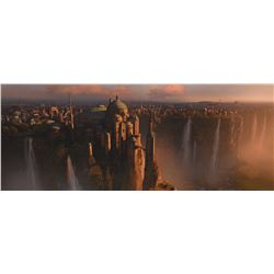"""Naboo"" digital matte painting proof that hung at ILM."