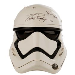 Stormtrooper screen used helmet signed by the cast from Star Wars: Episode VII - The Force Awakens.
