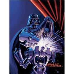 "Brothers Hildebrandt ""Darth Vader"" artwork for ""Shadows of the Empire"" trading card #12."
