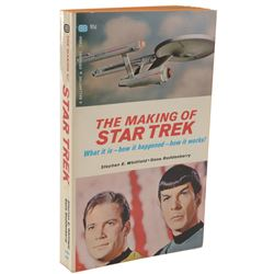 The Making of Star Trek book signed by creators and cast members including Gene Roddenberry.