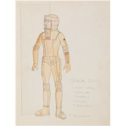 "Leonard Nimoy ""Spock"" costume sketch by Robert Fletcher from Star Trek: The Motion Picture."