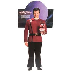 "Star Trek collection of (4) advertising standees including ""Kirk"", ""Spock"" and ""The Enterprise""."