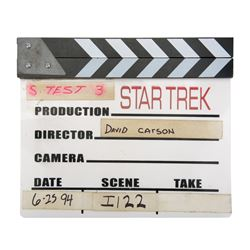 Original production clapperboard for Star Trek: Generations.