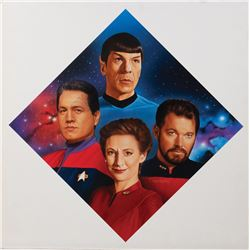 "Star Trek ""Second in Command"" Hamilton collector's plate artwork by Todd Treadway."