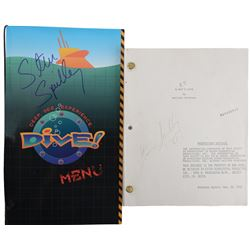 "Steven Spielberg ""Dive"" menu & signed Shooting script from E.T. the Extra-Terrestrial."