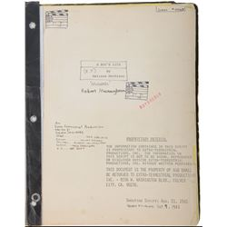"Robert MacNaughton ""Michael"" shooting script from E.T. the Extra-Terrestrial, ""A Boy's Life""."