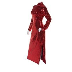 "Dustin Hoffman ""Dorothy Michaels"" signature red sequined dress from Tootsie."