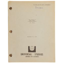 The Legend of King Kong unrealized Revised Second Draft script written by Bo Goldman.