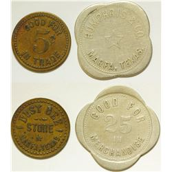 Busy Bee Store/ Humphris & Co.  Tokens
