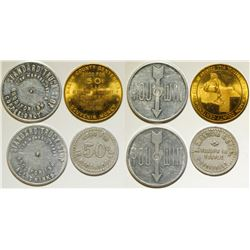 """Four Tokens from """"M"""" Towns"""
